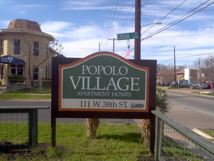 Popolo Village Sign